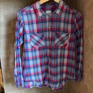 AEO thin boyfriend flannel